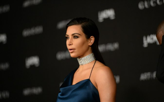 V personality Kim Kardashian West at the 2014 LACMA Art + Film Gala honoring Barbara Kruger and Quentin Tarantino presented by Gucci at LACMA in Los Angeles, CA., on Nov. 1, 2014. (Jason Merritt/Getty Images for LACMA)