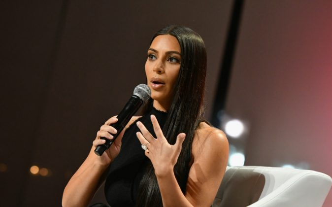 Kim Kardashian-West speaks at The Girls' Lounge dinner, giving visibility to women at Advertising Week 2016, at Pier 60 in New York City on Sept. 27, 2016. (Slaven Vlasic/Getty Images for The Girls' Lounge)