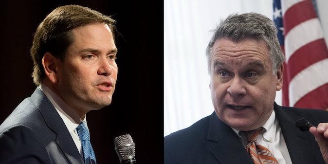 (L-R) U.S. Senator Marco Rubio and Representative Chris Smith. (David Calvert/Getty Images)