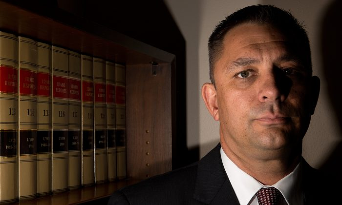 Attorney Brad Calbo, whose law firm acts as the public defenders for Jerome County's felony juvenile cases, says Idaho needs to better fund treatment for juvenile offenders, on Sept. 15, 2016. (Pat Sutphin/The Times-News via AP)