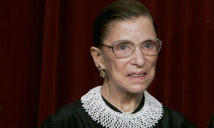 U.S. Supreme Court Justice Ruth Bader Ginsburg during a photo session with photographers at the U.S. Supreme Court  in Washington DC., on March 3, 2006. (Photo by Mark Wilson/Getty Images)