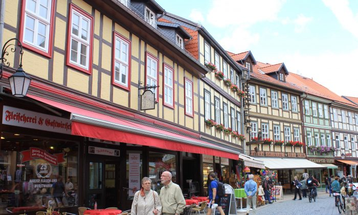 Shopping street in Wernigerode. (Wibke Carter)