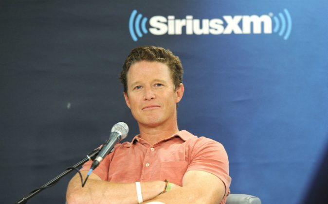 NBC News' Billy Bush in conversation with Jeff Rossen for SiriusXM's TODAY Show Radio at SiriusXM Studios on August 22, 2016 in New York City. Bush was suspended for his 2005 conversation with Donald Trump, where the two made disparaging comments about women. (Craig Barritt/Getty Images for SiriusXM)