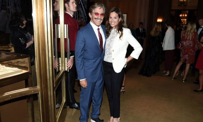 Geraldo Rivera (L) and Erica Levy attend the Cartier Fifth Avenue Grand Reopening Event at the Cartier Mansion in New York City, on Sept. 7, 2016. (Nicholas Hunt/Getty Images for Cartier)