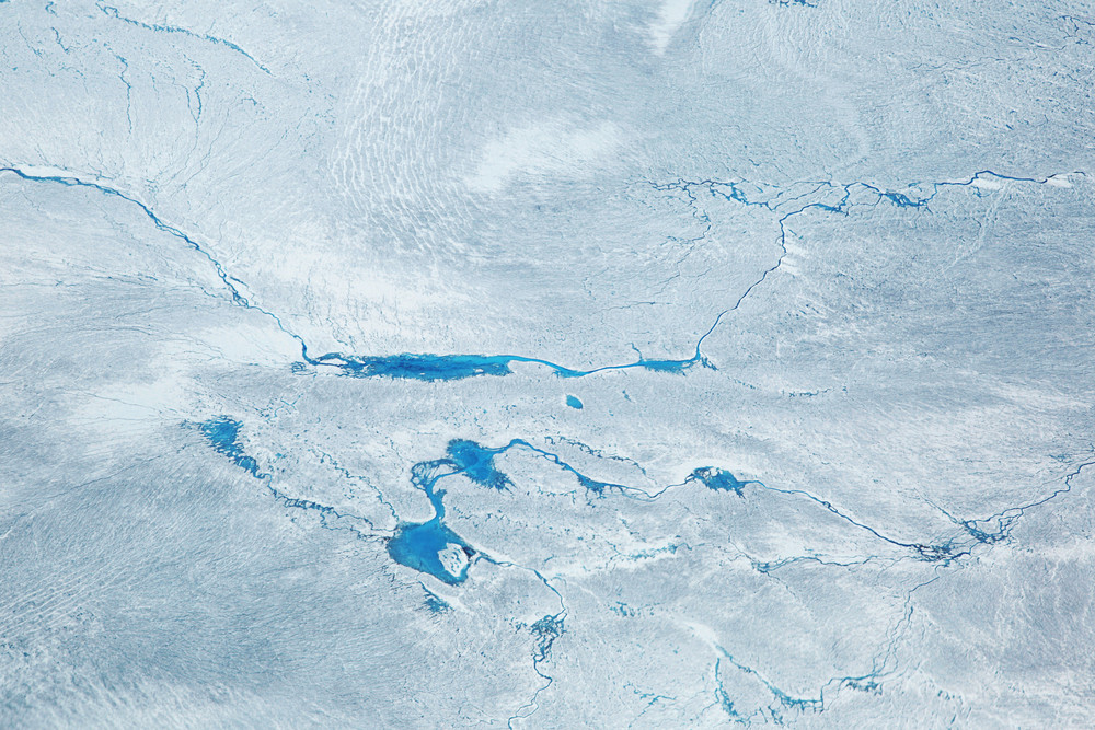 A file photo of the Greenland ice sheet, which covers about 80 percent of Greenland. ( Milan Petrovic/Shutterstock)