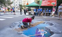 Gesso Italiano (Chalk Art) at the San Diego Little Italy Fiesta