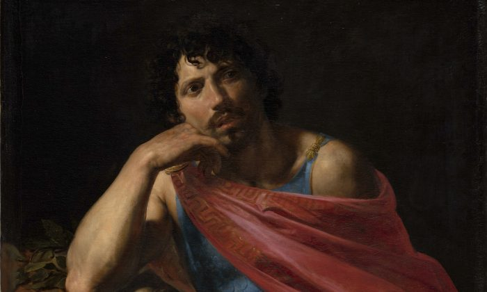 """Samson,"" (detail) 1631 by Valentin de Boulogne (French, Coulommiers-en-Brie 1591–1632 Rome) he Cleveland Museum of Art, Mr. and Mrs. William H. Marlatt Fund (The Metropolitan Museum of Art)"