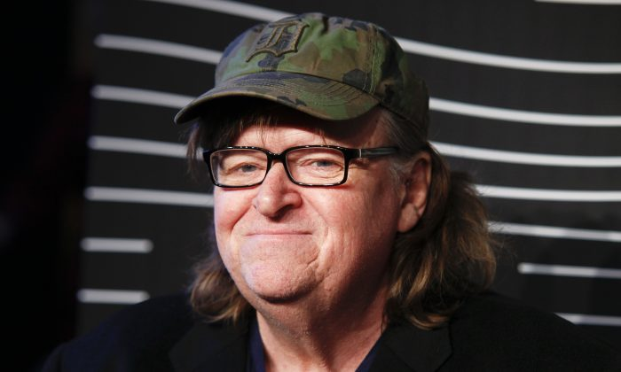 Michael Moore attends the 20th Annual Webby Awards at Cipriani Wall Street in New York, in this file photo. (Photo by Andy Kropa/Invision/AP)