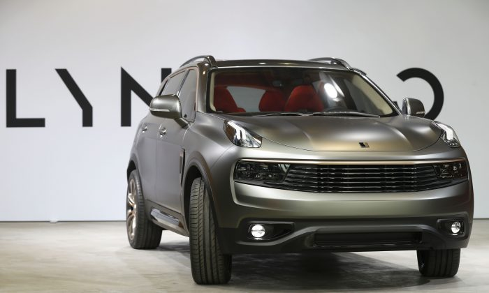 Lynk & Co's upcoming 01 SUV is displayed during its launch event in Berlin, Oct. 20, 2016. (Odd Andersen/AFP/Getty Images)