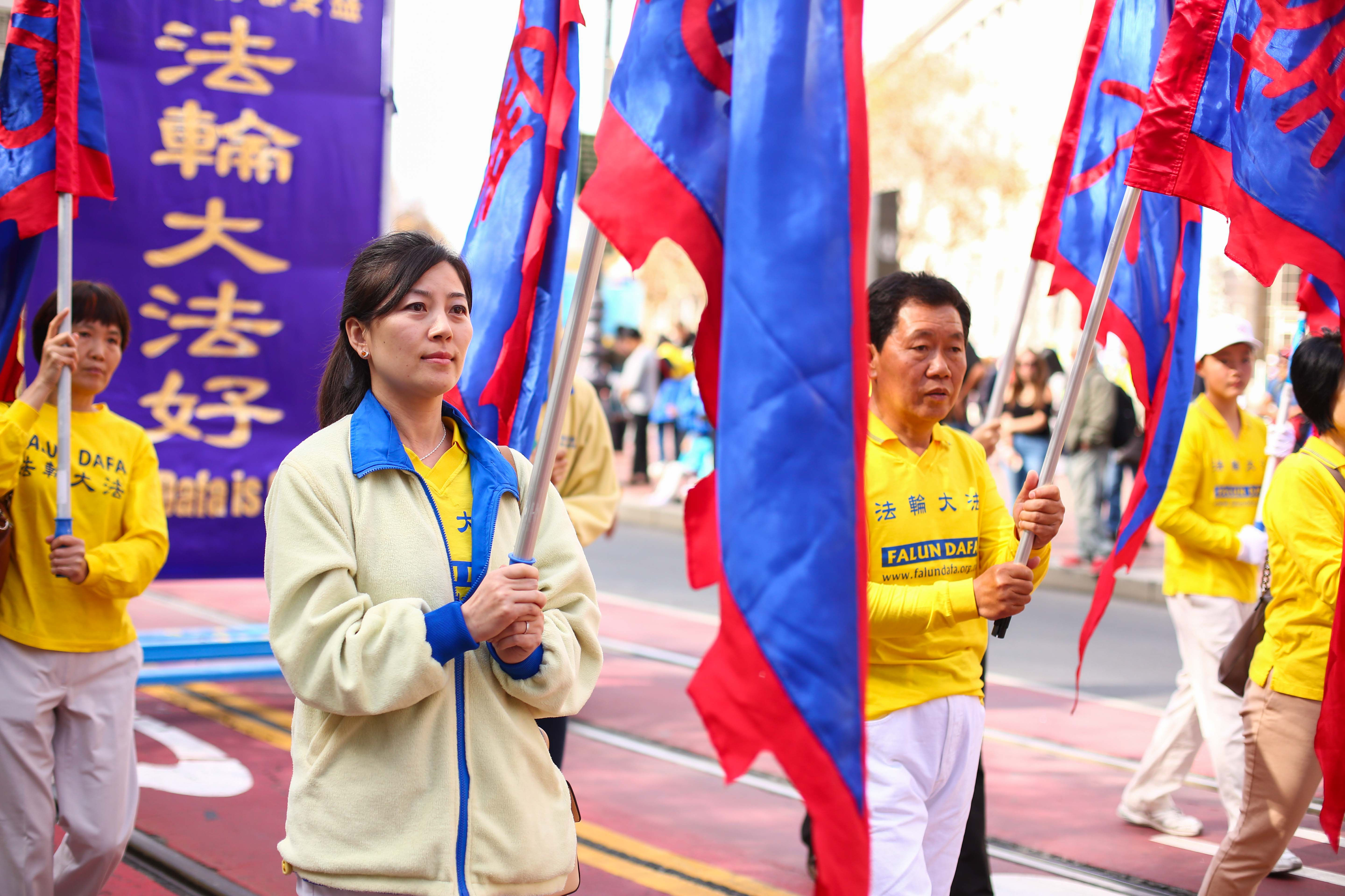 Over 5,000 practitioners and supporters of Falun Gong from over 30 countries march in a parade in San Francisco on Oct. 22, 2016, bringing awareness to the practice and calling an end to the persecution in China that started on July 20, 1999. (Benjamin Chasteen/Epoch Times)