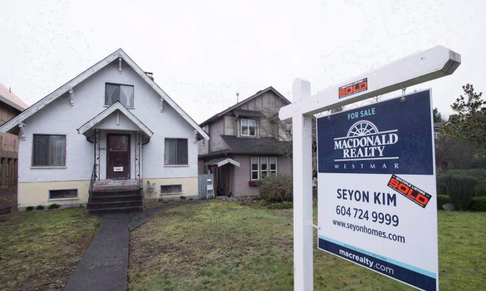 A home sold in Vancouver. The city's skyrocketing housing market is another good reason for the federal government to reduce its appetite for mortgage insurance. (The Canadian Press/Jonathan Hayward)