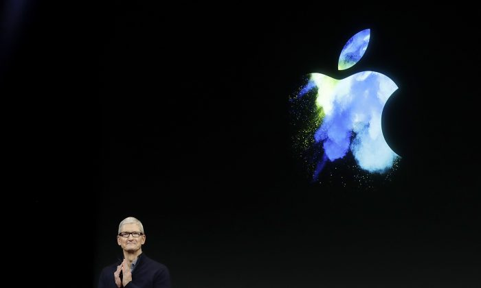 Apple CEO Tim Cook speaks during an announcement of new products in Cupertino, CA., on Oct. 27, 2016. (AP Photo/Marcio Jose Sanchez)