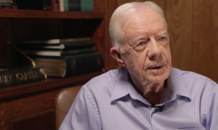 "A stillshot from the documentary ""Circle of Poison"" of ex-President Jimmy Carter. (Courtesy of Evan Mascagni)"