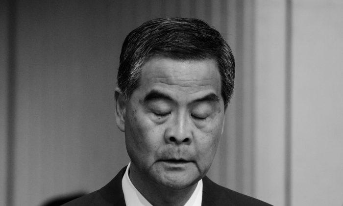 Hong Kong Chief Executive Leung Chun-ying at a press conference in Hong Kong on June 20, 2016. (Anthony Wallace/AFP/Getty Images)