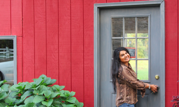Nirmala Narine on her farm in the Hudson Valley. (Andrea Hayley/Epoch Times)