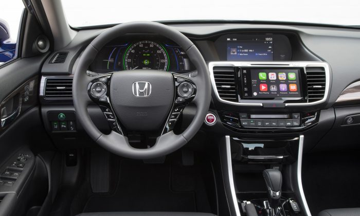 Looking from the driver's seat. (Courtesy of Honda)