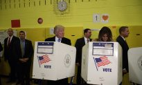 Photo: Trump Glances Over at Wife While Voting