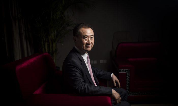 Chairman of Wanda Group Wang Jianlin in Beijing on Aug. 25, 2016. (Fred Dufour/AFP/Getty Images)