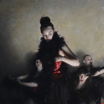 BOUGUEREAU AWARD: The Performance (2015). 100 x 100 cm | 391/4 x 391/4 in. Oil on canvas. (Nick Alm)