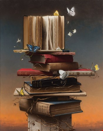 First Place Still Life Category: Books and Butterflies by Steven Levin.