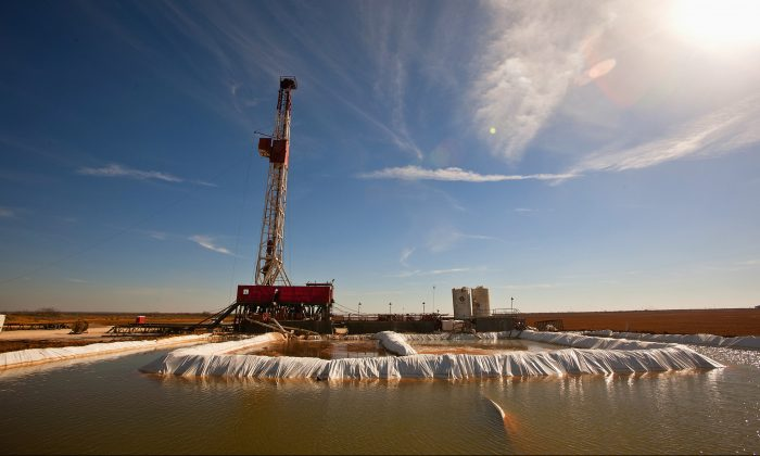 "A water pool attached to Robinson Drilling rig No. 4 in Midland County, Texas. Ken Medlock, director of an energy-studies program at Rice University in Houston, says an assessment on Nov. 15, 2016, by the U.S. Geological Survey that the Wolfcamp Shale in the Midland region could yield 20 billion barrels of oil is another sign that ""the revival of the Permian Basin is going to last a couple of decades."" (James Durbin/Reporter-Telegram via AP)"