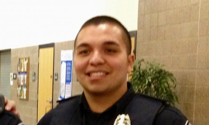 St. Anthony police officer Jeronimo Yanez outside the city council chambers in St. Anthony, Minn., in this file photo. (Christian Dobratz via AP, File)