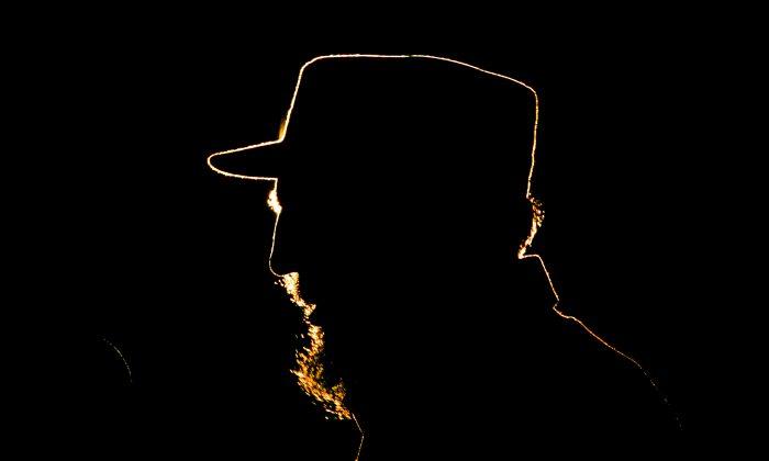 Cuban leader Fidel Castro speaks during a ceremony at the Revolution Plaza in Havana on Feb 3, 2006.(AP Photo/Javier Galeano)