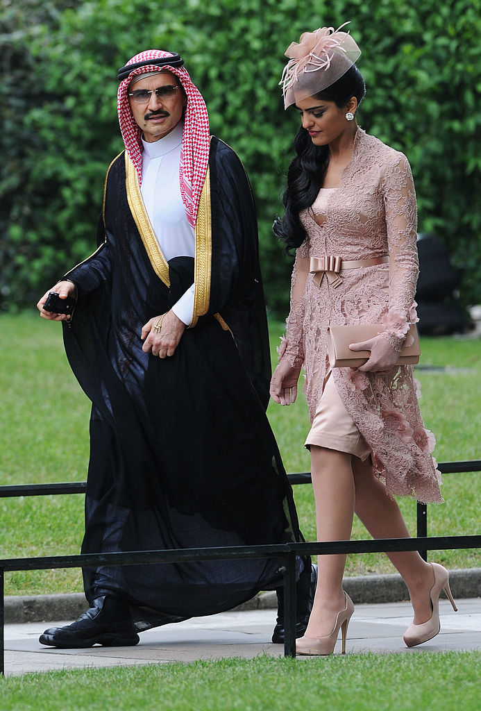 Suadi Prince Al-Waleed bin Talal and Princess Ameerah   in London, England on April 29, 2011. (Jasper Juinen/Getty Images)