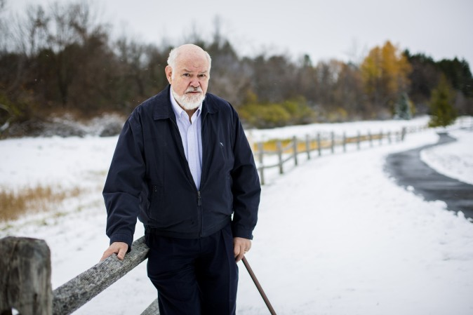 Norman Uphoff, senior adviser for SRI International Network and Resources Center at Cornell University, near his home in Ithaca, N.Y., on Nov. 21. (Samira Bouaou/Epoch Times)
