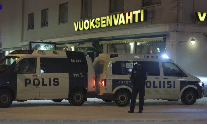 Finnish Police. (Hannu Rissanen/Lehtikuva via AP)