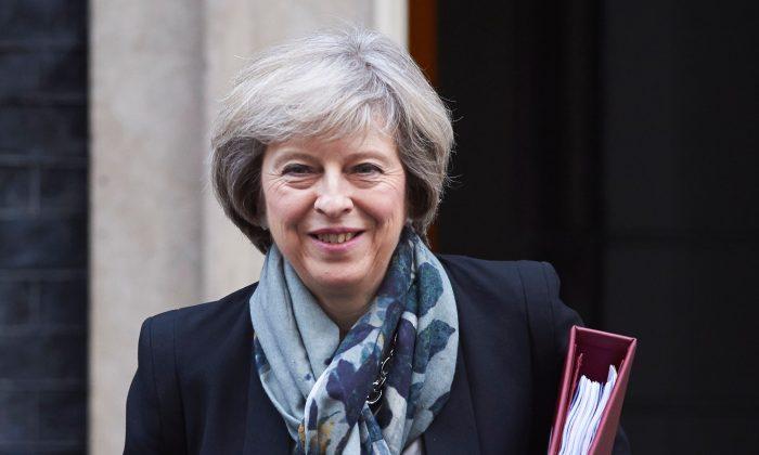 British Prime Minister Theresa May in London on Nov. 16, 2016. (NIKLAS HALLE'N/AFP/Getty Images)