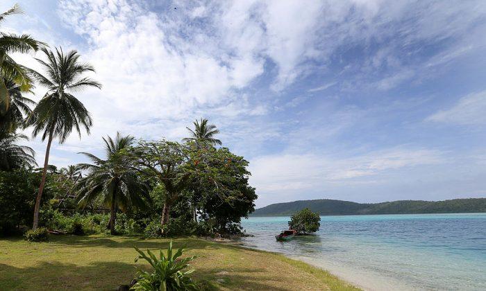 The island of Tuvanipupu in Honiara, Guadalcanal Island, Solomon Islands. (Chris Jackson - Pool/Getty Images)