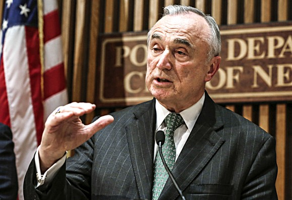 FILE - In this Jan. 12, 2015, file photo, New York City Police Commissioner William Bratton speaks during a news conference at police headquarters in New York. On Monday, July 25, 2016, Bratton told reporters he would not remain commissioner beyond New York City Mayor Bill de Blasio's first term. (AP Photo/Richard Drew, File)