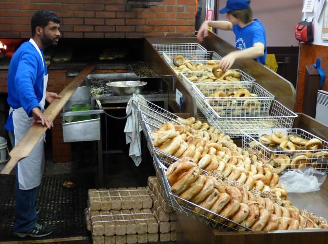 Montreal Bagel Bakery. (Barbara Angelakis)