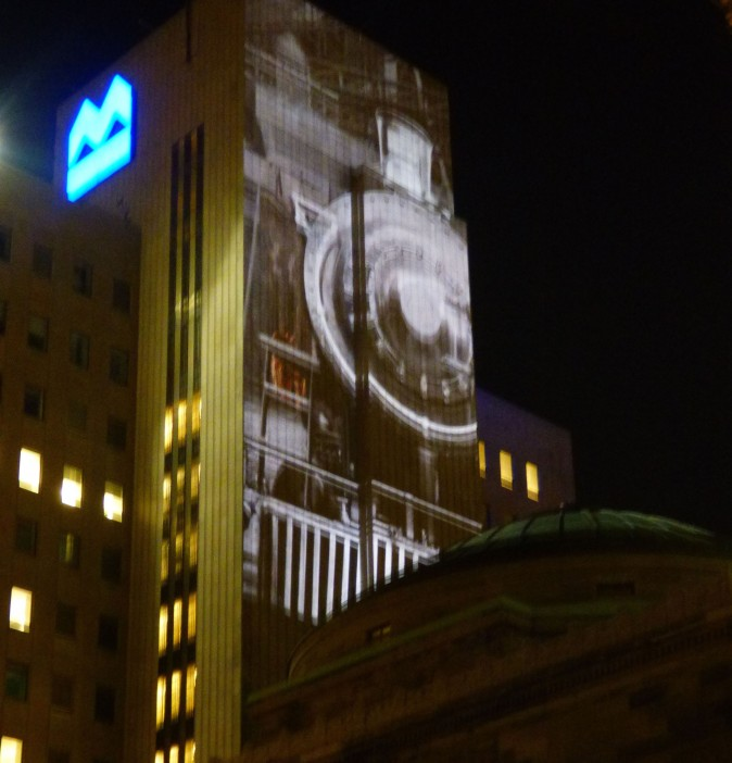 Montreal City Memories Projections. (Barbara Angelakis)