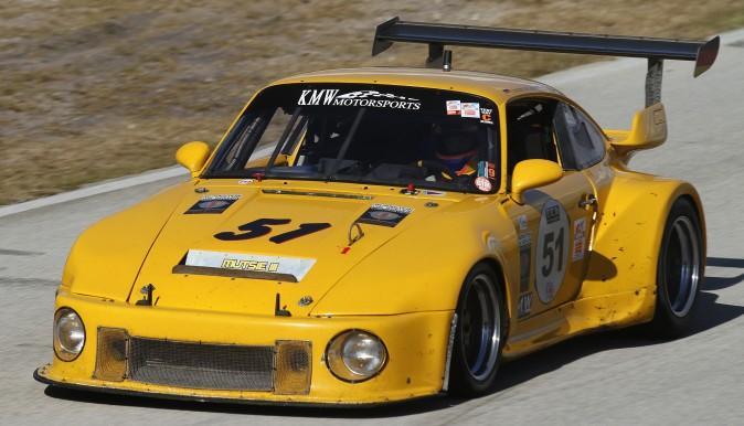 Kevin Wheeler, Hartmut Von Seelen, and Jonathon Ziegelman won Group F in their #51 1974 Porsche 911 RSR. (Chris Jasurek/Epoch Times)