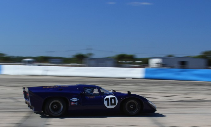 The #10 1969 Lola T70 Mk IIIb of Gerard Lopez and Frantz Wallenborn won Group A. ((Chris Jasurek/Epoch Times)