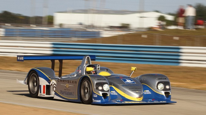 Florent Moulin brought this rare (one of six) Chrysler LMP-Judd all the way from Luxembourg to compete in the Classic 12 Hours. (Chris Jasurek/Epoch Times)