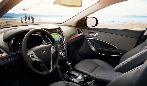 Inside the 2017 Santa Fe.  (Courtesy of Hyundai)