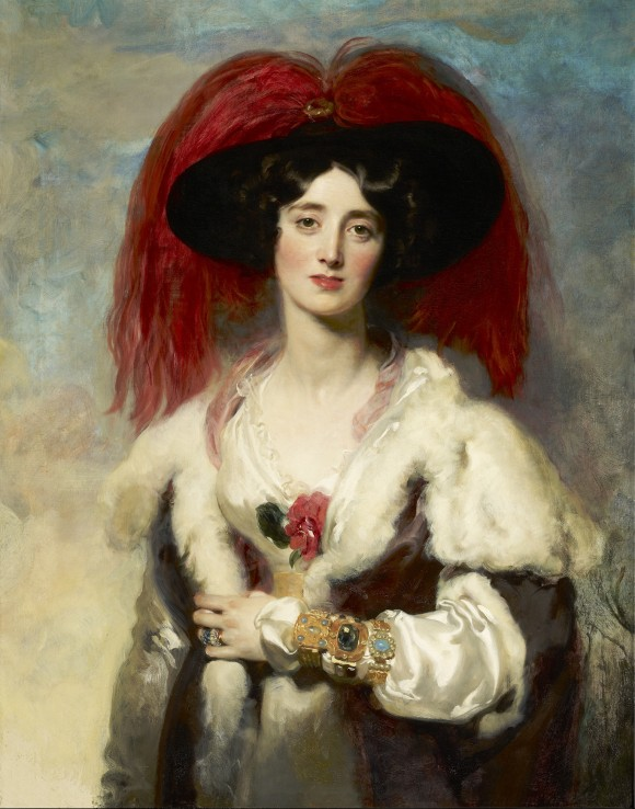 """Julia, Lady Peel,"" 1827, by Sir Thomas Lawrence (1769–1830). Oil on canvas, 35 3/4 by 27 7/8 inches, The Frick Collection (Michael Bodycomb)"