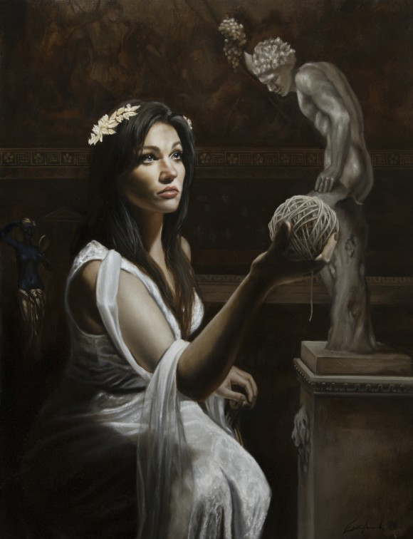 Ariadne, oil on birch, 2016, by Eric Armusik. (Courtesy Eric Armusik)