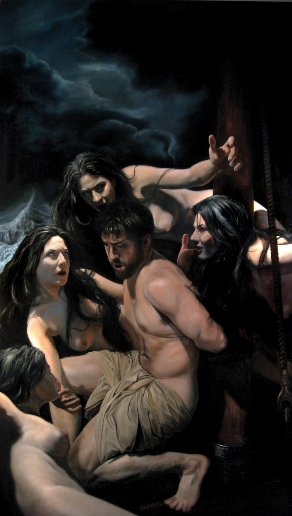 Odysseus and the Sirens, oil on oak, The Art Renewal Center International Salon Chairman's Choice Award Winner 2010 by Eric Armusik. (Courtesy Eric Armusik)