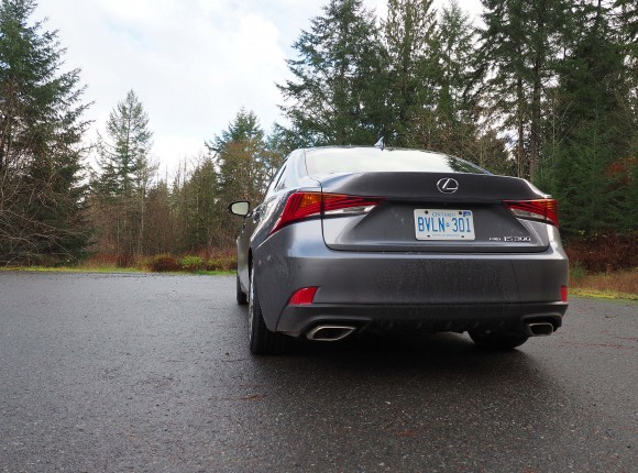 The back of the IS with unique tail lamps. (Benjamin Yong)