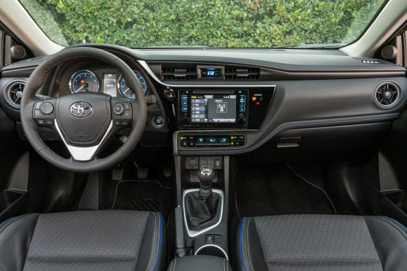 The interior of the 2017 Corolla. (Courtesy of Toyota)