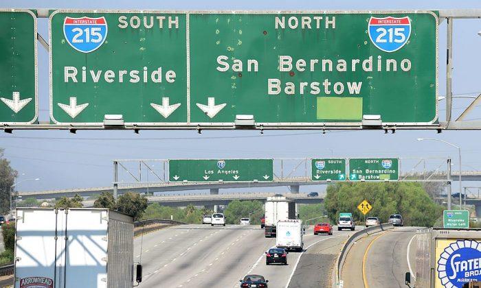 Interstate 10 West make on July 17, 2012 in San Bernardino, California. (FREDERIC J. BROWN/AFP/GettyImages)