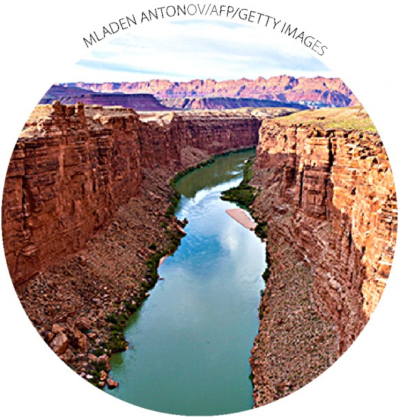 The Colorado River in Marble Canyon, Ariz., on May 18, 2015. A 16-year drought threatens freshwater supplies for 40 million people in the United States and Mexico. A water-share agreement between the nations expires at the end of 2017.