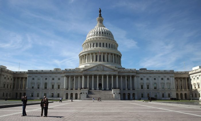 The US Capitol is shown October 11, 2016 in Washington DC. House and Senate Republicans are in a close race with Democrats to keep control of both houses of Congress.  (Photo by Mark Wilson/Getty Images)