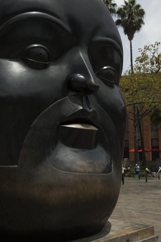 A sculpture by Fernando Botero in Plaza Botero. (Carole Jobin)