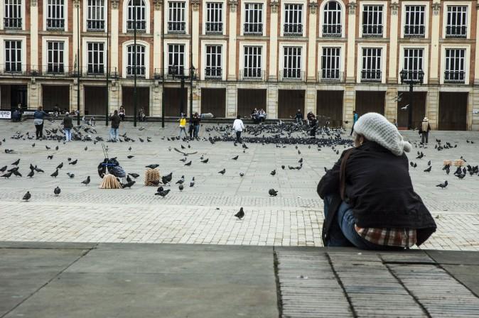 The huge Plaza Bolívar in downtown Bogotá. (Carole Jobin)