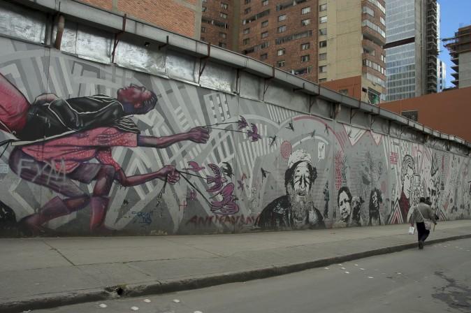 Street art in Bogotá. (Carole Jobin)